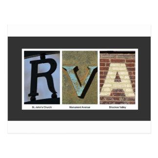 Cartão Postal Colagem da foto de RVA