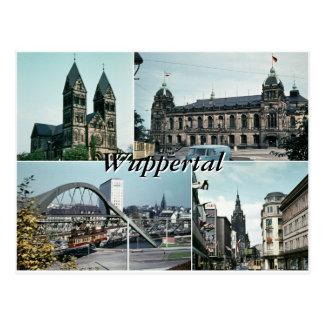 Cartão Postal Colagem da foto de Wuppertal do vintage