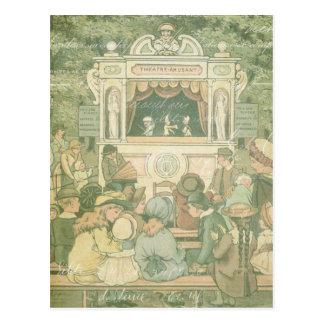 Cartão Postal Colagem da mostra de fantoche do livro de