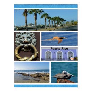 Cartão Postal Colagem da natureza de San Juan, Puerto Rico