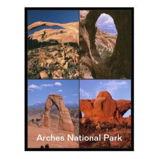 Cartão Postal Colagem das dores do arenito do parque nacional