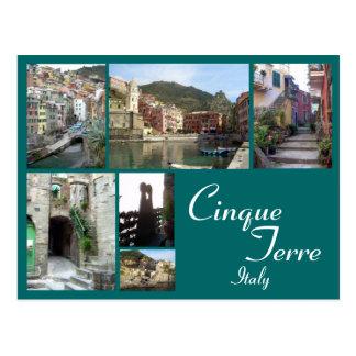 Cartão Postal Colagem de Cinque Terre