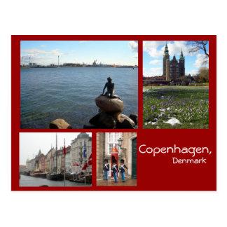 Cartão Postal Colagem de Copenhaga
