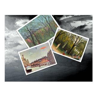 Cartão Postal Colagem de Henri Rousseau
