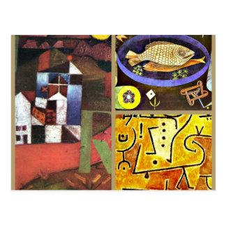 Cartão Postal Colagem de Klee