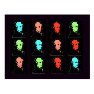Cartão Postal Colagem de Wolfgang Amadeus Mozart
