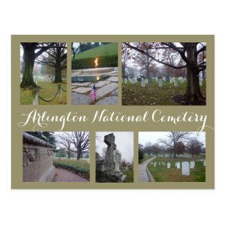 Cartão Postal Colagem do cemitério de Arlington
