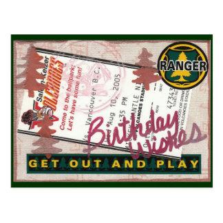 Cartão Postal Colagem do feliz aniversario