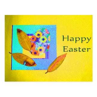 Cartão Postal Colagem do ovo da páscoa - personalizada