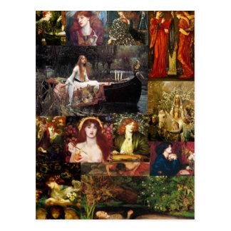 Cartão Postal Colagem do Pre-Raphaelite