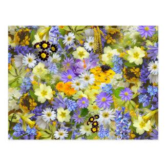Cartão Postal Colagem do primavera