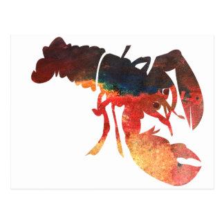 Cartão Postal Colagem dos meios mistos da lagosta