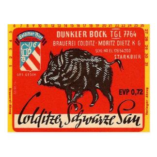 Cartão Postal Colditzer Schwarze Sau