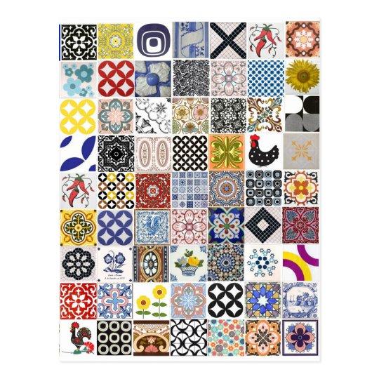 Cartão Postal Coleção Azulejos