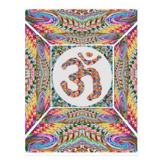 Cartão Postal Coleção da jóia da mantra do OM