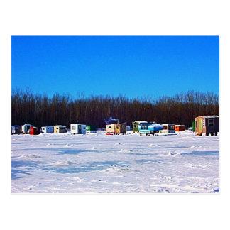 Cartão Postal Coleção da pesca do gelo