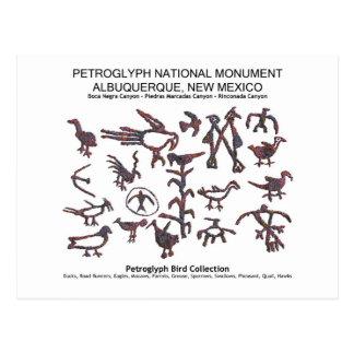 Cartão Postal Coleção do pássaro do Petroglyph
