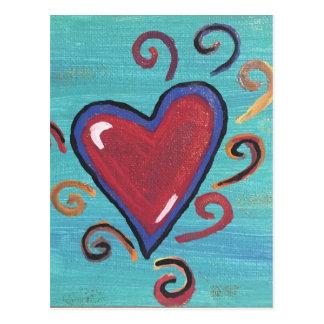 Cartão Postal Coleção vermelha dos corações