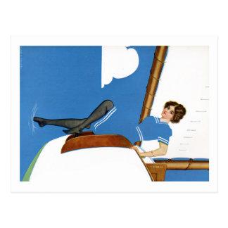 Cartão Postal Coles Phillips Fadeaway - navigação em oceanos