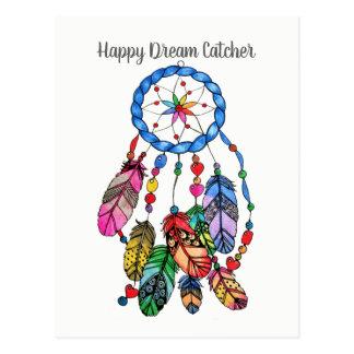 Cartão Postal Coletor lindo do sonho do arco-íris da aguarela