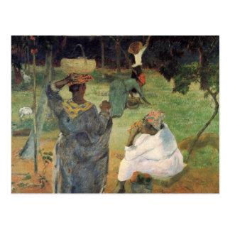 Cartão Postal Colheita da fruta - Paul Gauguin
