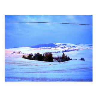 Cartão Postal Colinas nevado