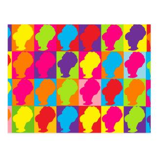 Cartão Postal Colmeias multicoloridos do pop retro