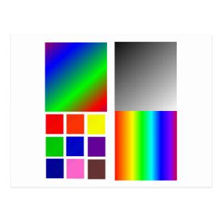 Cartão Postal Colora quadrados diferentes e tais das amostras
