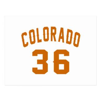 Cartão Postal Colorado 36 designs do aniversário