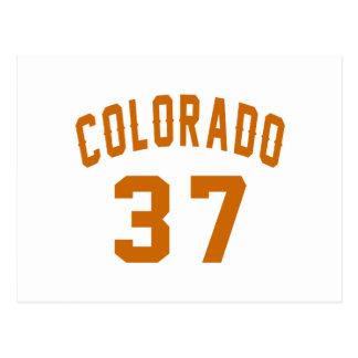 Cartão Postal Colorado 37 designs do aniversário