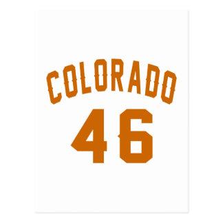 Cartão Postal Colorado 46 designs do aniversário