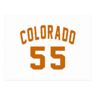 Cartão Postal Colorado 55 designs do aniversário