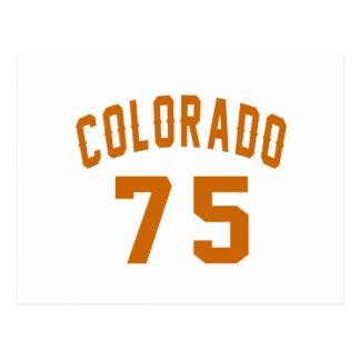 Cartão Postal Colorado 75 designs do aniversário