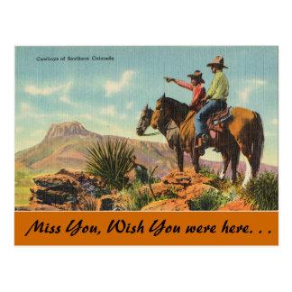 Cartão Postal Colorado, vaqueiros de Colorado do sul