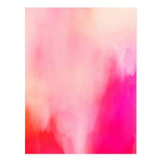 Cartão Postal Colorido alaranjado coral do rosa abstrato da