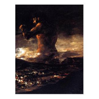 Cartão Postal Coloso do EL (1808-1812), Francisco de Goya. Óleo