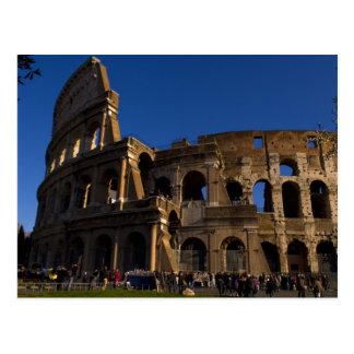 Cartão Postal Colosseum famoso no marco de Roma Italia