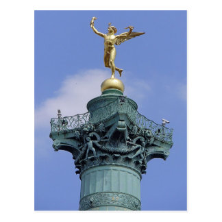 Cartão Postal Coluna, Lugar de la Bastill, Paris