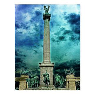 Cartão Postal Coluna quadrada dos heróis, Budapest (2)
