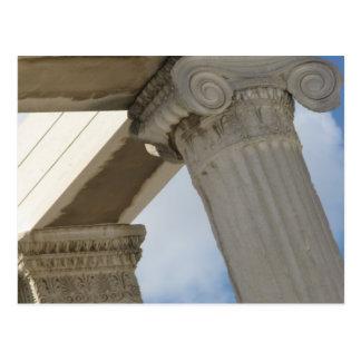 Cartão Postal Colunas arquitectónicas do grego clássico