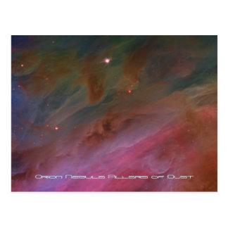 Cartão Postal Colunas da poeira, imagem do telescópio da