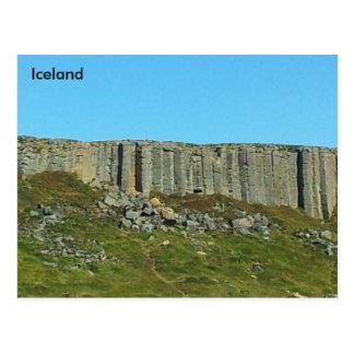 Cartão Postal Colunas do basalto de Gerðuberg, Snaefellsnes,