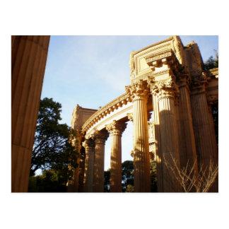 Cartão Postal Colunas no palácio das belas artes