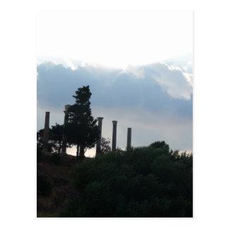 Cartão Postal Colunas romanas em Byblos