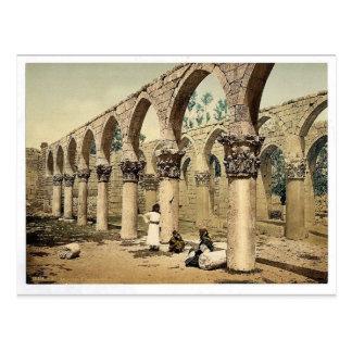 Cartão Postal Colunata da mesquita antiga, Baalbek, Lan