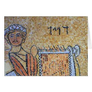 Cartão Postal com exclusivo de Mosaico do Rei Davi