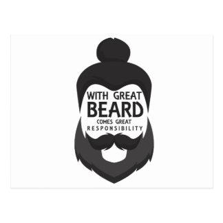 Cartão Postal Com grande barba vem a grande camisa da