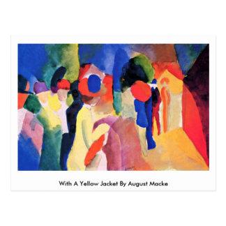 Cartão Postal Com uma jaqueta amarela daqui até agosto Macke