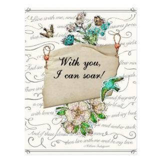 Cartão Postal Com você eu posso subir
