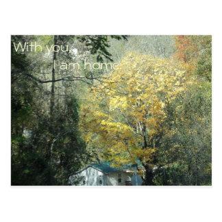 Cartão Postal Com você, eu sou casa
